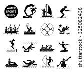 water sports icons black set... | Shutterstock . vector #325082438