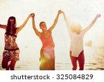 friendship freedom beach summer ... | Shutterstock . vector #325084829