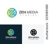 zen media  z letter logo vector ... | Shutterstock .eps vector #325085480
