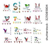 set of colorful abstract letter ... | Shutterstock .eps vector #325085804