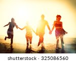 friendship freedom beach summer ... | Shutterstock . vector #325086560