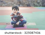sad child | Shutterstock . vector #325087436