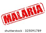 Malaria Red Stamp Text On White
