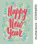 hand drawn elegant new year and ... | Shutterstock .eps vector #325096850