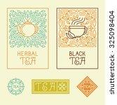 vector tea packaging labels and ...   Shutterstock .eps vector #325098404