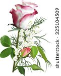 illustration with rose flower... | Shutterstock .eps vector #325104509