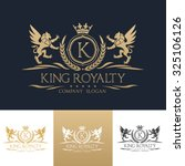 king royalty k letter crest... | Shutterstock .eps vector #325106126