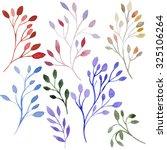 set of different watercolor... | Shutterstock . vector #325106264