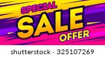 special offer banner. sale and... | Shutterstock .eps vector #325107269