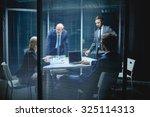 modern business people having... | Shutterstock . vector #325114313