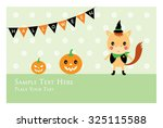 horse halloween greeting card | Shutterstock .eps vector #325115588