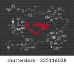 business concept  painted red... | Shutterstock . vector #325116038