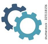 gears illustration icon. style... | Shutterstock . vector #325118156