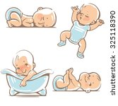 set with  cute baby boys 0 12... | Shutterstock .eps vector #325118390