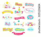 cute party wording vector... | Shutterstock .eps vector #325120604