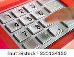 Press ATM machine keypad numbers