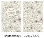 vintage card with flowers on... | Shutterstock .eps vector #325124273