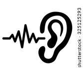 ear listen sound signal vector... | Shutterstock .eps vector #325125293