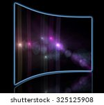 star with lens flare and bokeh... | Shutterstock . vector #325125908