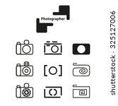 set of cameras logos   Shutterstock .eps vector #325127006