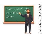 university professor standing... | Shutterstock .eps vector #325136636