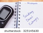 glucose meter and polish... | Shutterstock . vector #325145630