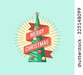 Christmas Card. Christmas Tree...