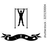 horizontal bar and man. black... | Shutterstock .eps vector #325150004