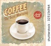 coffee vintage banner | Shutterstock .eps vector #325156964