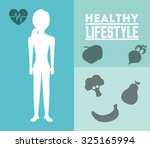 healthy lifestyle design ... | Shutterstock .eps vector #325165994