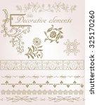 vector set  calligraphic design ... | Shutterstock .eps vector #325170260