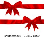 shiny red satin bow set on... | Shutterstock .eps vector #325171850