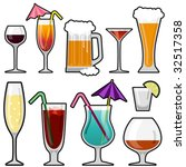 alcohol drink icon set   Shutterstock .eps vector #32517358