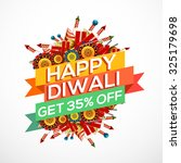 happy diwali creative... | Shutterstock .eps vector #325179698