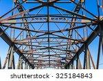 steel girders at old bridge ...   Shutterstock . vector #325184843