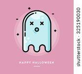 cute ghost  flat design thin... | Shutterstock .eps vector #325190030