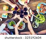 food table celebration... | Shutterstock . vector #325192604