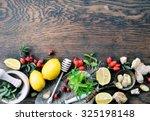 ginseng  lemon  peppermint ... | Shutterstock . vector #325198148