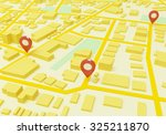 street map with gps icons   Shutterstock . vector #325211870