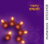 diwali festival background. | Shutterstock .eps vector #325212428