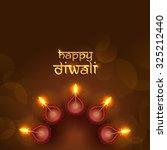 diwali festival background. | Shutterstock .eps vector #325212440