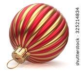 christmas ball new year's eve... | Shutterstock . vector #325214834