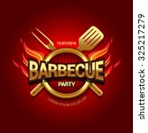 barbecue party logo  party... | Shutterstock .eps vector #325217279