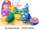 colourful ocean plants and... | Shutterstock .eps vector #32521831