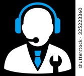 service manager vector icon.... | Shutterstock .eps vector #325223360