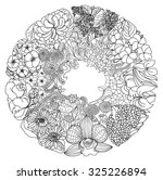 zentangle and doodle style... | Shutterstock .eps vector #325226894