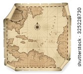 Old Geographic Map Of Atlantic...