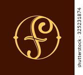f letter in vintage circle.... | Shutterstock .eps vector #325231874