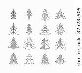 graphical christmas tree set ... | Shutterstock .eps vector #325235909