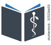 drug handbook glyph icon. style ... | Shutterstock . vector #325236653